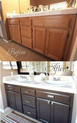 Inexpensive Changes to home bathroom cabinets