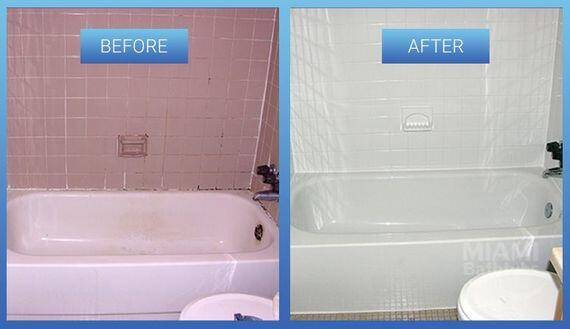 Inexpensive Changes to home_bathtub refinishing before after