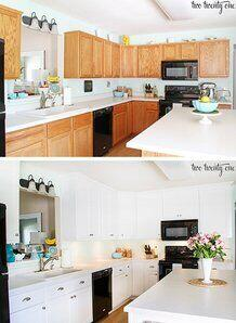Inexpensive Changes to home kitchen before and after