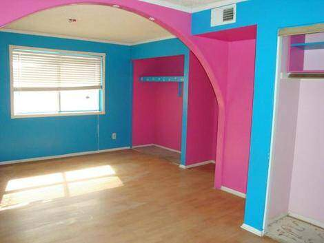Paint 101 cobalt blue with hot pink