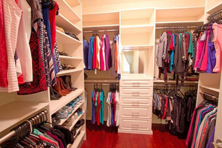 home photography clean organized closet
