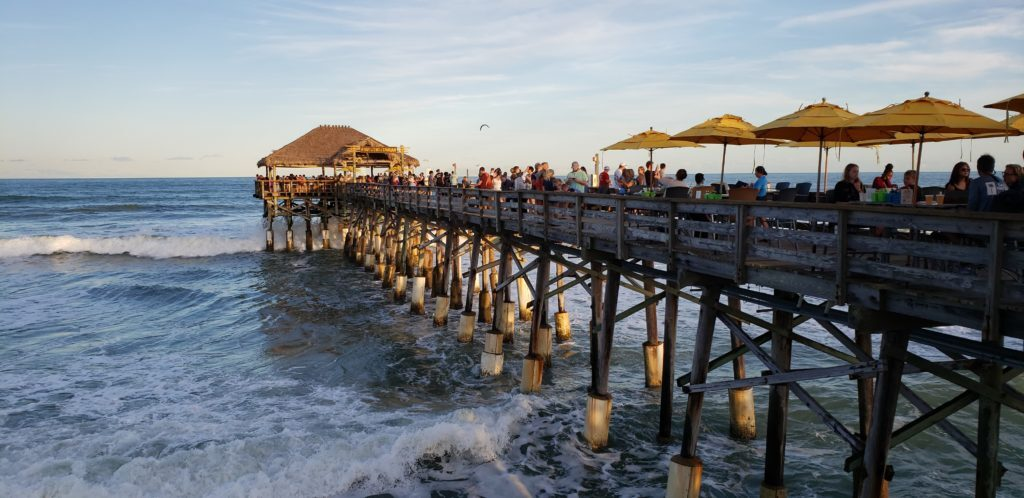 Cocoa Beach Pier at Sunset