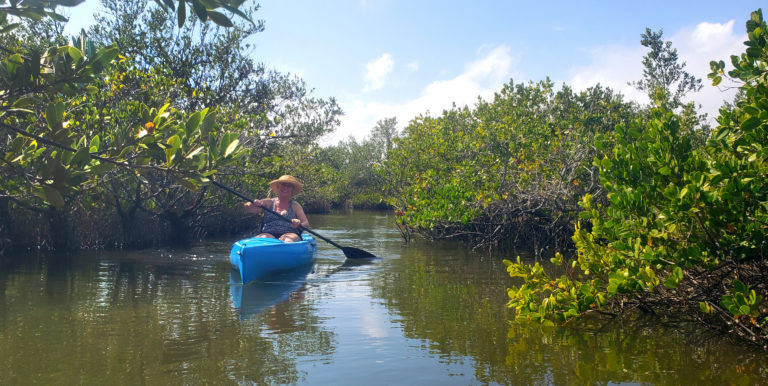 Kayaking the Thousand Islands of Cocoa Beach.