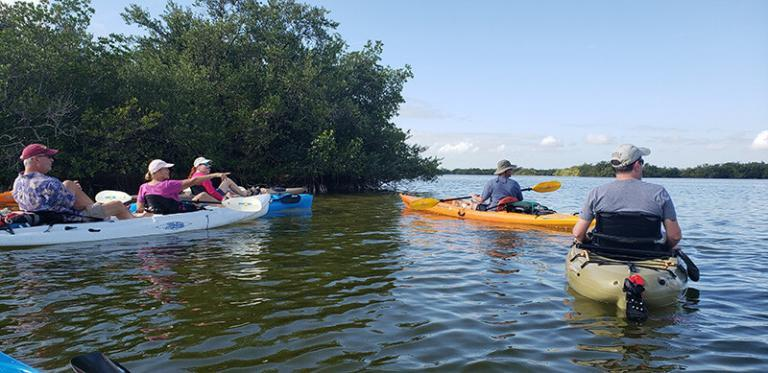 Kayaking the thousand islands of cocoa beach